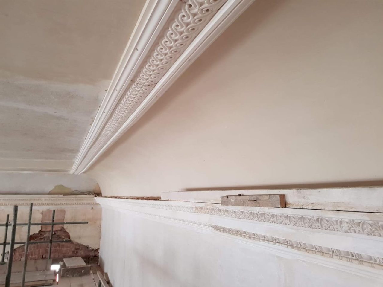 Formal plastering in lime