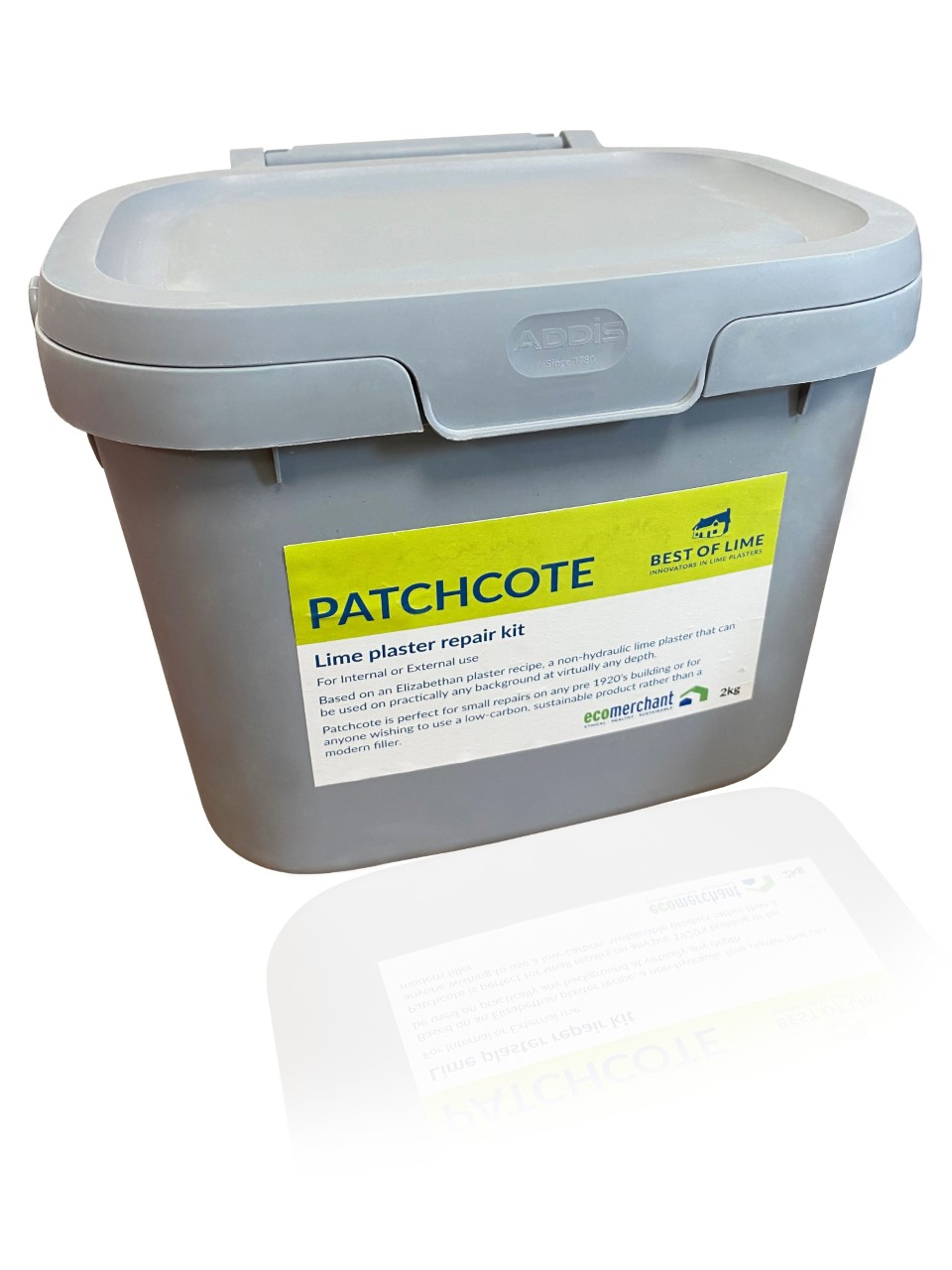 Patchcote lime plaster repair kit product packaging